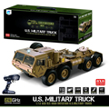 1:12 8 X 8 R/C 2.4G Electric Remote Control Militray Truck Model All Terrin Truck Kit - Sound And Light Version Desert Yellow