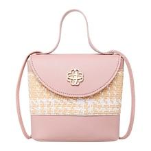 Pink Handbag Woman Bag Luxury Designer PU Wallet Female High Quality Brand Beach Multicolor Messenger