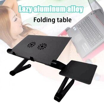 Foldable Laptop Stand Computer Desk Tablet Notebook Holder Desk Bracket Standing Adjustable VDX99