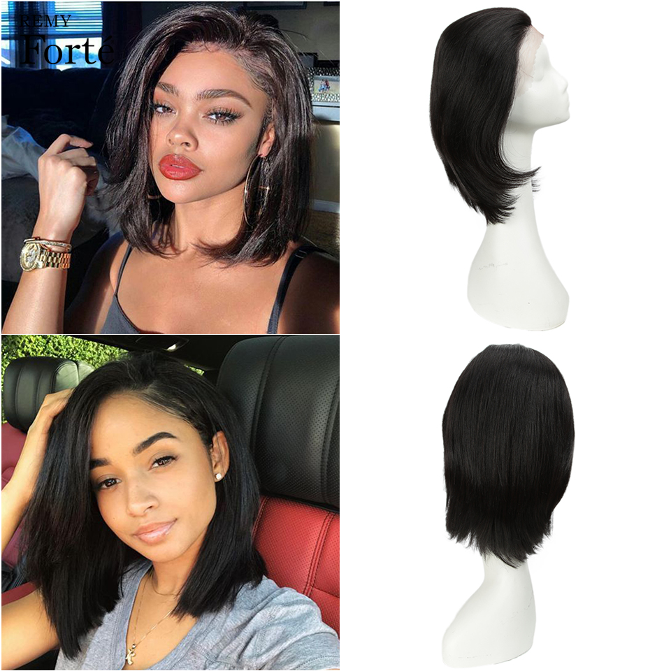 Remy Forte Lace Front Human Hair Wigs Short Blonde Lace Front Wigs Straight Real Human Hair Wigs 100% Remy Brazilian Hair Wigs