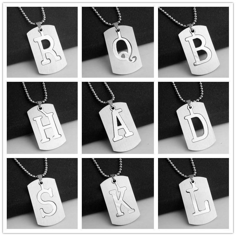 Новое креативное Двухслойное ожерелье из нержавеющей стали DIY с A-Z буквами, вечерние ювелирные изделия в подарок