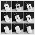 NEW Creative DIY Stainless Steel A-Z Letters Double-deck Necklace Party Gift Jewelry