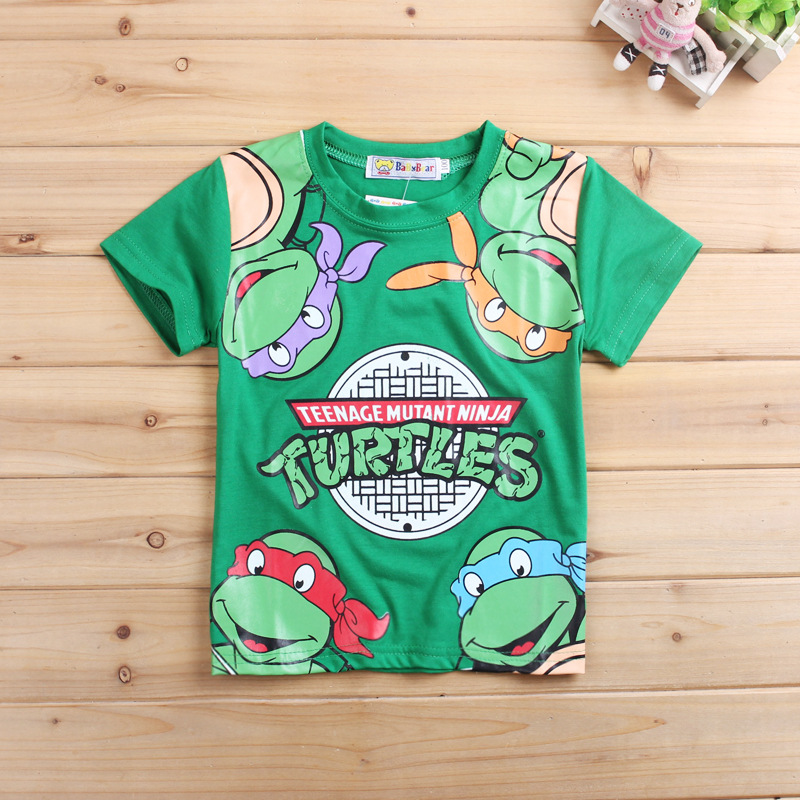 Teenage Mutant Ninja Turtles Cartoon KID'S T-shirt Short Sleeve