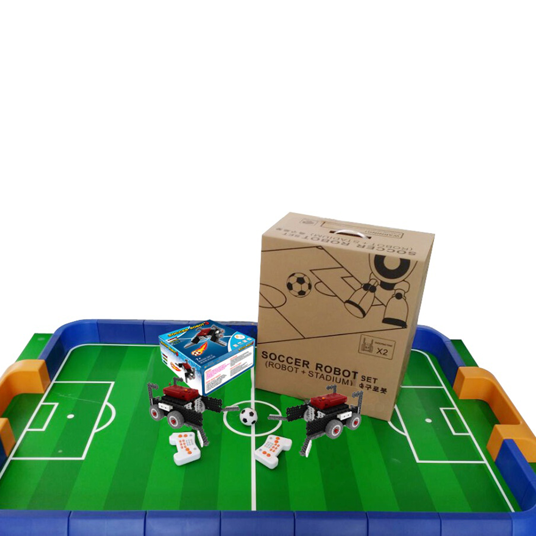 My Robot Time High Tech Playing Football Game Robot Building Block Kit Assembly Educational Robot Toy 2019