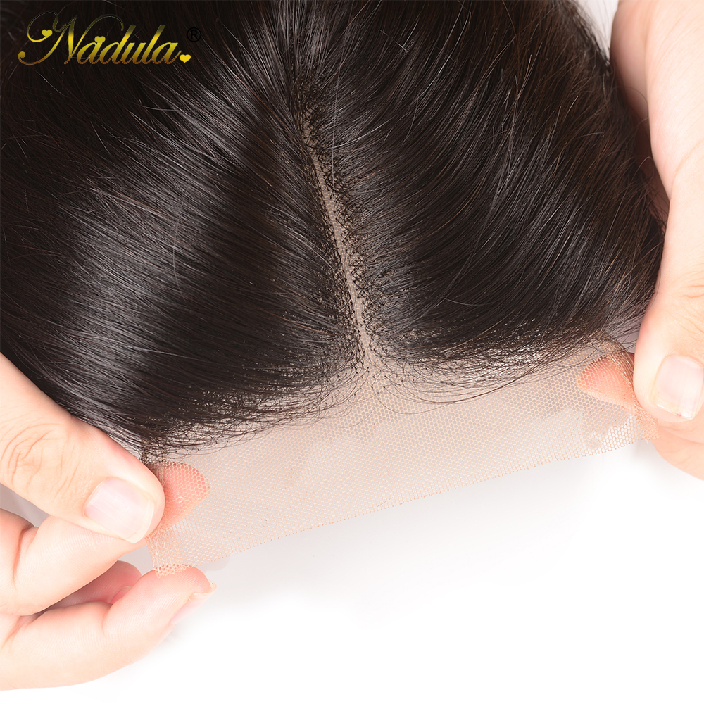 Nadula Hair 4*4 Middle /Free Part  Body Wave Hair Closure 100%   Hair Swiss Lace Closure 10-20inch 6