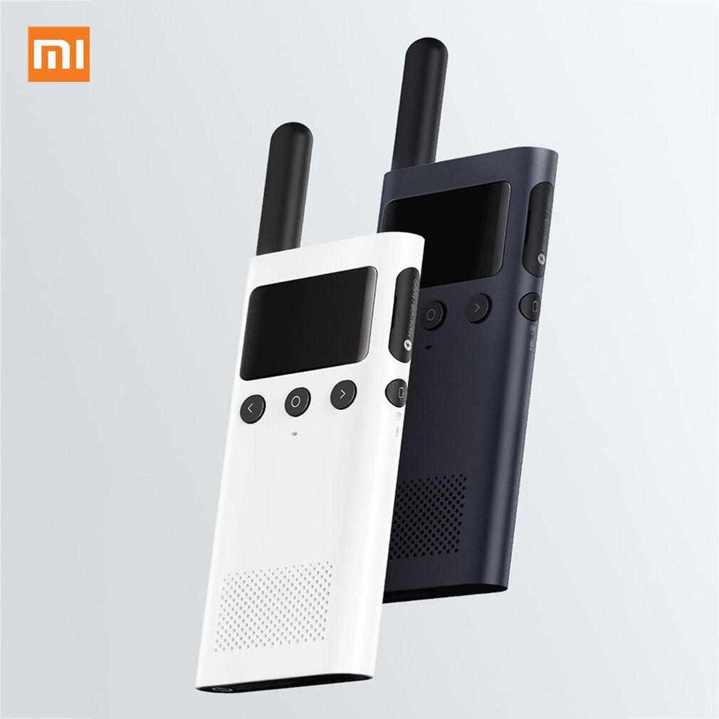 Mise à jour de la version Xiaomi Mijia talkie-walkie intelligent 1S avec haut-parleur Radio FM en veille smartphone APP emplacement partager discussion d'équipe rapide