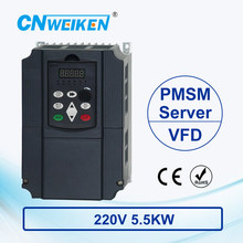 wk600B Vector Control frequency converter 5.5kw Single to Three-phase 220V Permanent Magnetic Synchronous Motor Drive стоимость