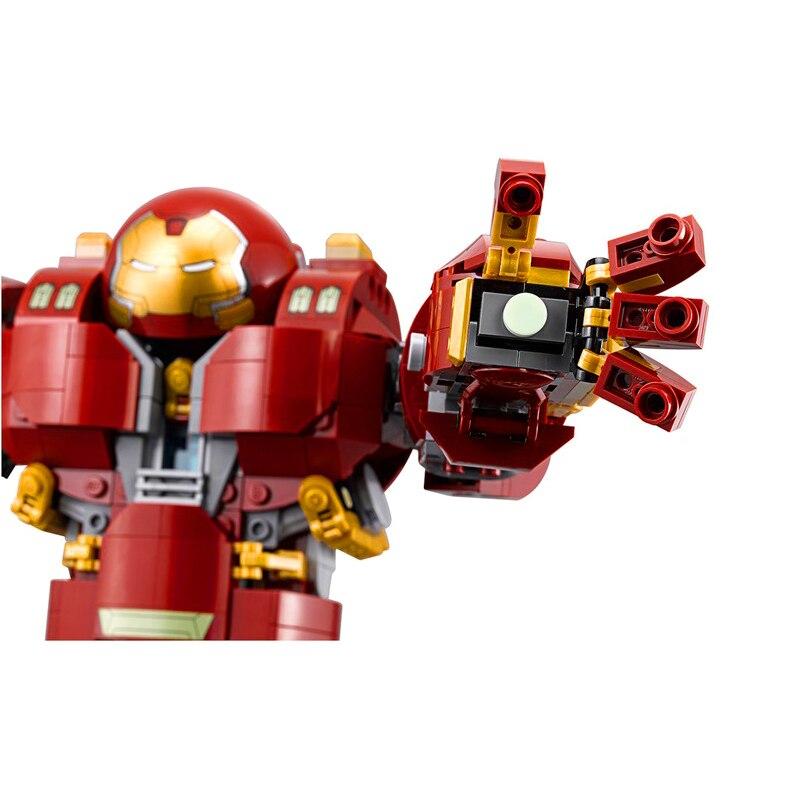 Bela 10833 Legoinglys ที่เข้ากันได้ Marvel Super Heros Series 76105 Iron Man Anti Hulk Mech ของเล่นสำหรับ Kid Building อิฐบล็อก-ใน บล็อก จาก ของเล่นและงานอดิเรก บน   3
