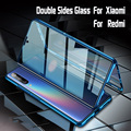 Magnetic Adsorption Metal Case for Xiaomi 9 Lite 9T Pro 8 SE CC9 A3 9H Double sided Tempered Glass Film Redmi note 8 7 Pro 8T F1