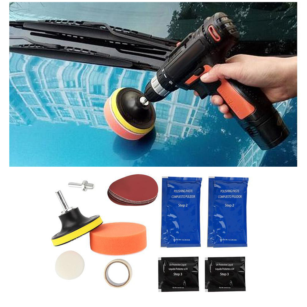 15Pcs/Set Headlight Polishing Tool M10 Car Headlight Restoration System Car Maintenance Provide UV Barrier Light Polishing Tool