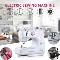 Single Needle Portable Electric Sewing Machine Mini Automatic Small Multifunctional Hand Held Sewing Machine Home 7.2W Desktop