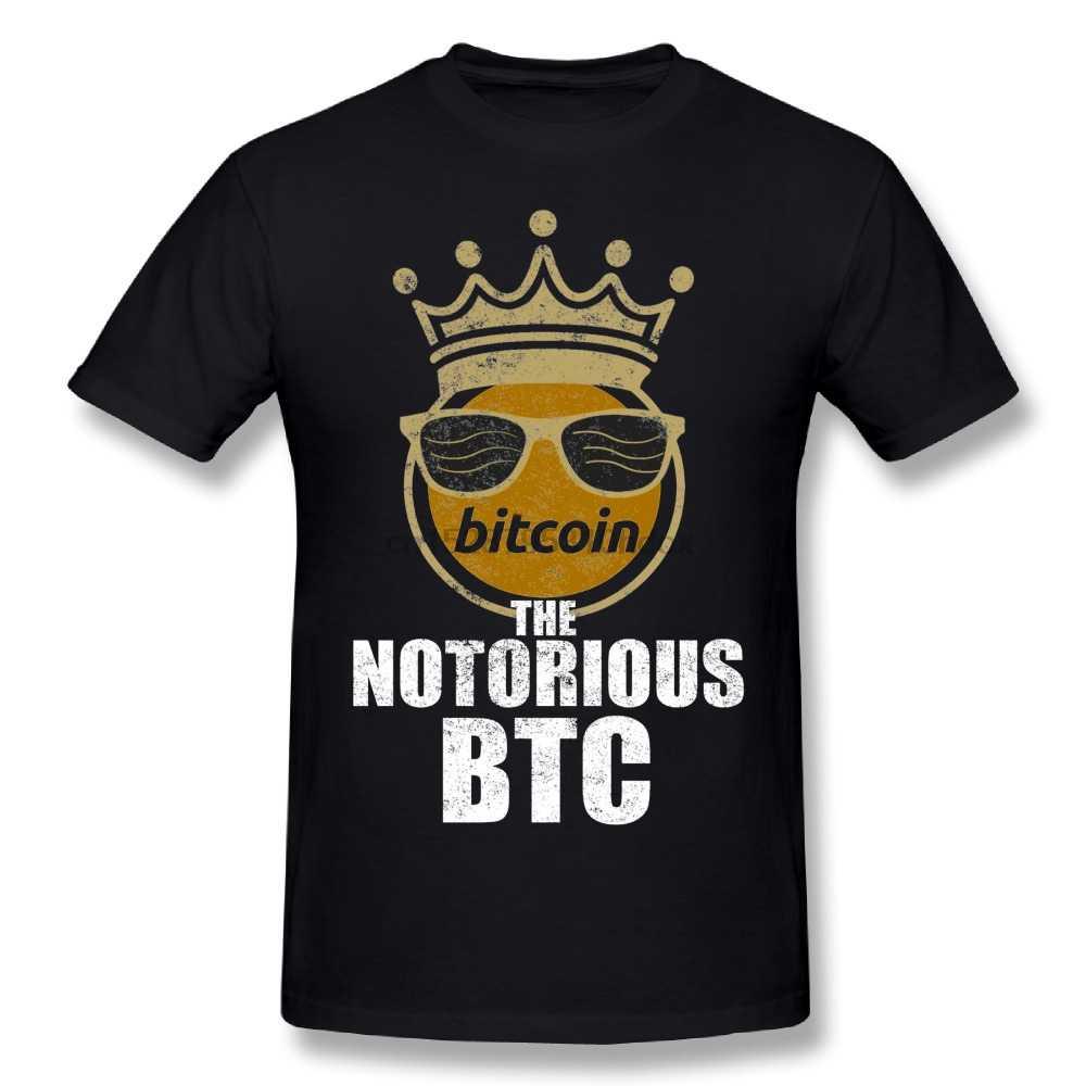 Mode Streetwear Man Grappige Bitcoin Cryptocurrency Crypto Kroon De Beruchte Btc T-shirts Merk T-shirts