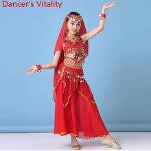 Children Indian Dance Wear Performance Costume New Top Skirt