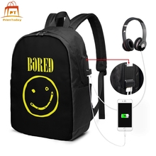 Smiley Face Backpack Smiley Face Backpacks Teenage Print Bag University Trend Multifunctional Men - Women Bags stylish smiley face lace choker necklace