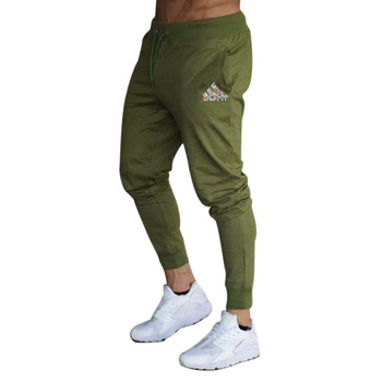 2020 spring and summer new fashion thin trousers men's casual pants jogging bodybuilding fitness perspiration limited time sport - M, Army Green