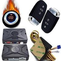 cardot best passive keyless entry system push button start stop remote engine start smart car alarm