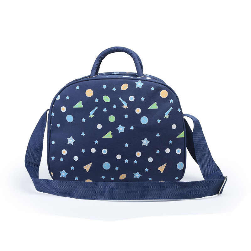 2019 new semi-portable shoulder Mummy bag large capacity multi-function Oxford cloth embroidered cartoon mom bag mother