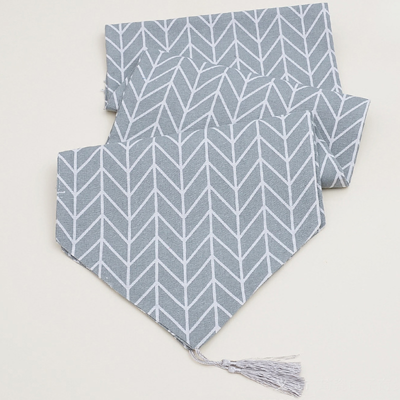 Withme Table Runner Modern Track On The Table Wedding Table Runner Decoration Tread Tablecloth Gray Party Supplies Nordic Style
