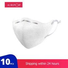 Airpop 10 sztuk pyłoszczelne przeciwmgielne i oddychające maski na twarz 96% maski filtracyjne funkcje jak dla youpin