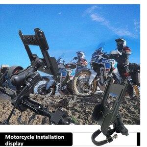 Image 5 - Support Radio avec pince de ceinture avec plaque de diamant Compatible avec boule en caoutchouc de 1 pouce pour Interphone de moto de voiture
