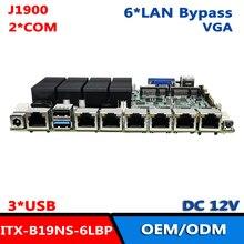 Материнская плата ITX роутера 12 В постоянного тока J1900 6LAN Ethernet Pfsense брандмауэр прибор материнская плата
