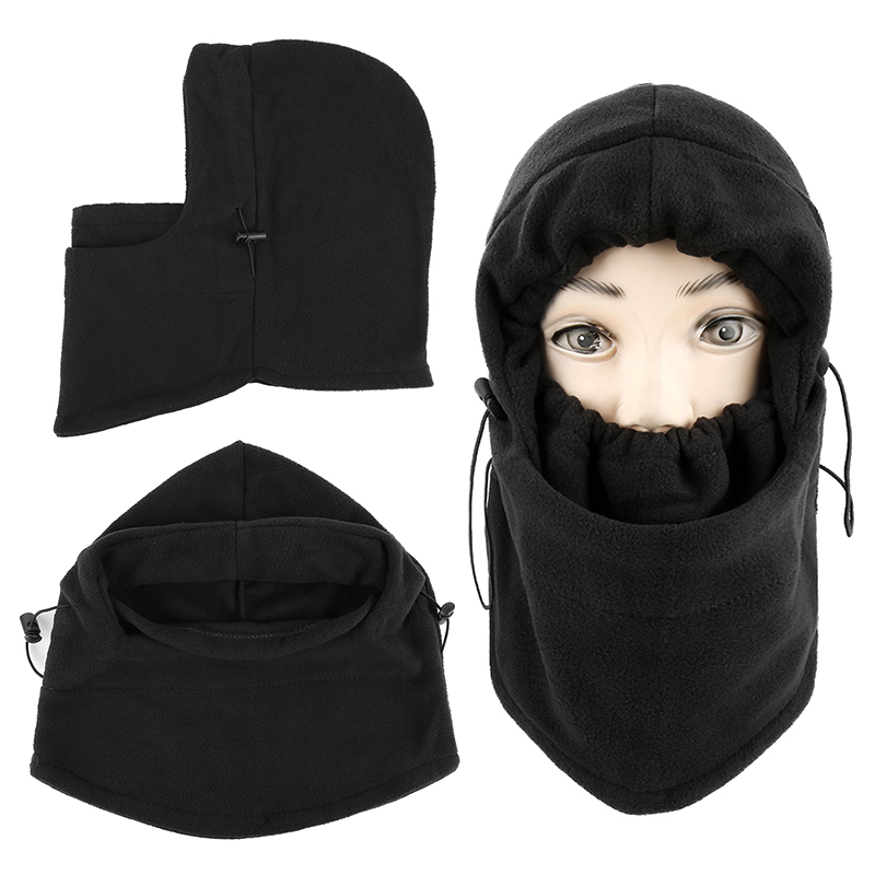 Winter Thermal Fleece Balaclava หมวก Hooded คออุ่นหน้ากากใบหน้าขี่จักรยานกลางแจ้งกีฬาหน้ากากใบหน้าสำหรับขี่จักรย...