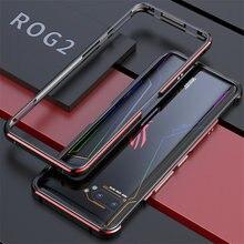 ASUS ROG 2 ROG2 Durumda Metal Çerçeve Çift Renkli Alüminyum Tampon Koruyucu ASUS için kapak ROG Telefonu II