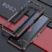 For ASUS ROG 2 ROG2 Case Metal Frame Double Color Aluminum Bumper Protect Cover for ASUS ROG Phone II Case