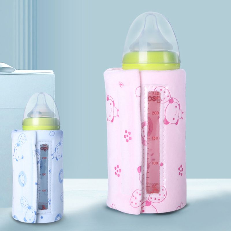 Visual USB Portable Milk Warmer Travel Baby Bottle Cover Heating Blanket Insulating Thermostat Warming Case