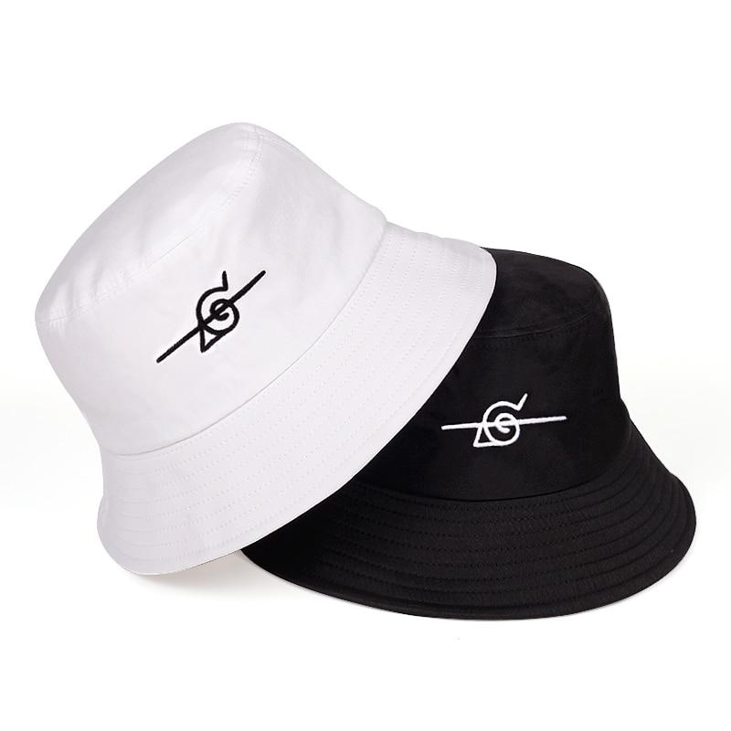 Панама с вышивкой Наруто, модная летняя шляпа для отдыха на открытом воздухе, путешествий, рыбаков, стильная шапка в стиле хип-хоп