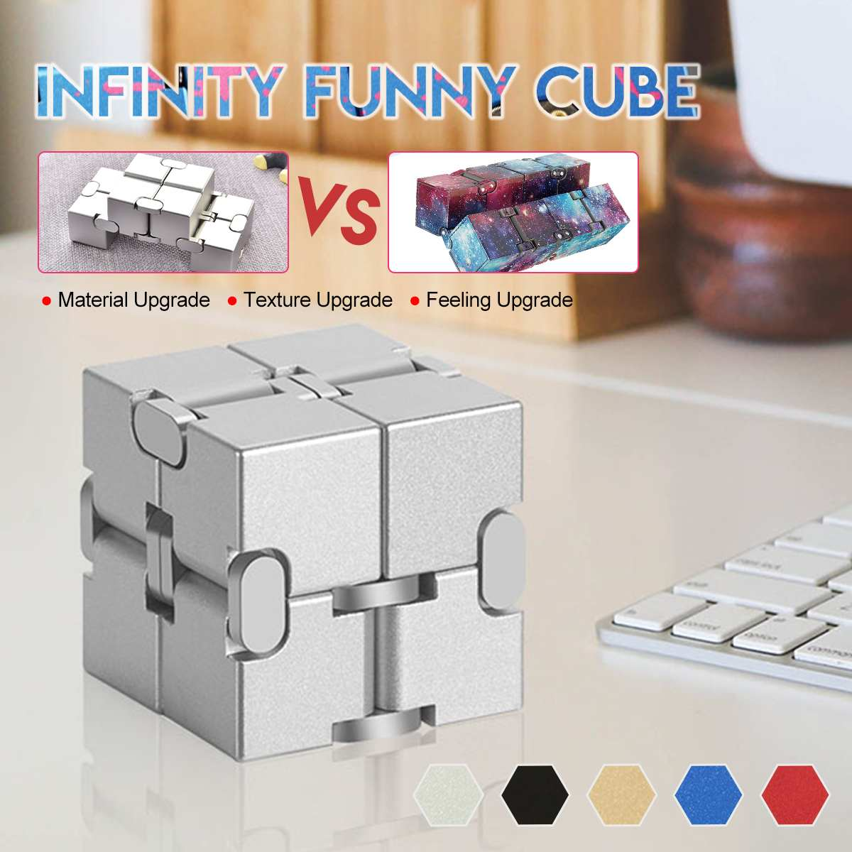 Relax Toy Infinit Cube Magic-Cube Stress Adults Relief-Blocks Finger-Anxiety Mini img2