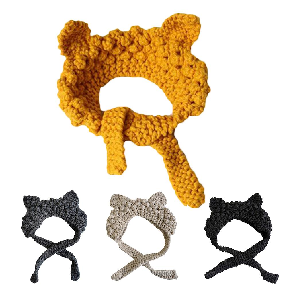Adult Women Cats Ears Knitted Lace Up Hat Earmuffs Earflaps Winter Warmer Cover