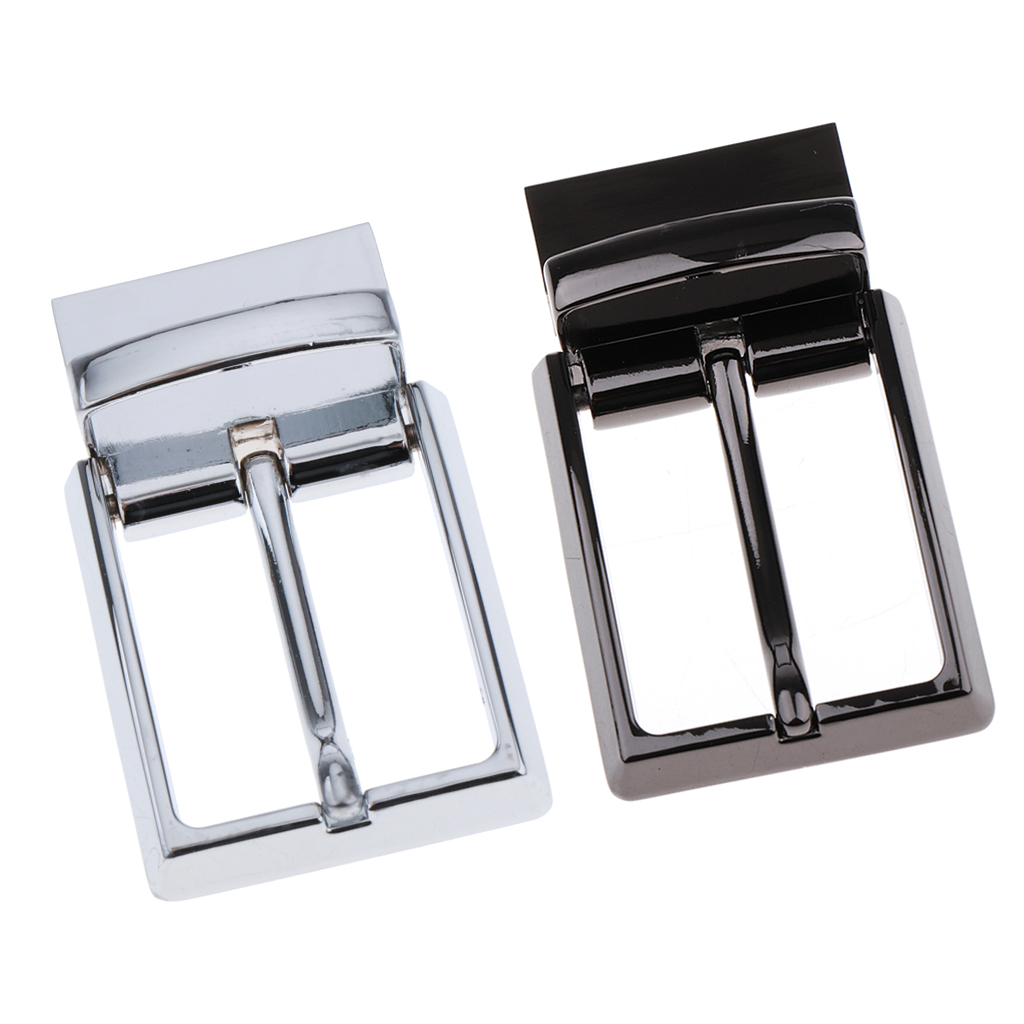 2x Automatic Buckle Alloy Reversible Belt Buckle For Men Christmas Gift