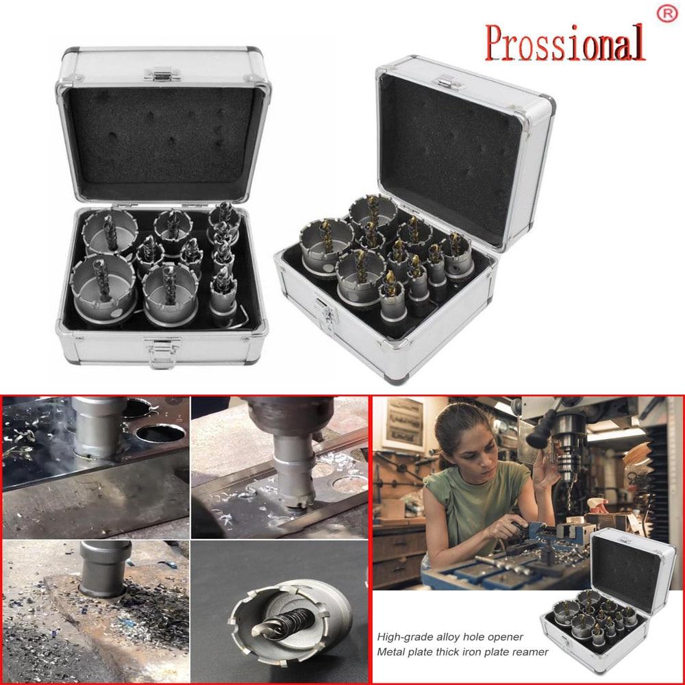 HSS Drill Bit Set High Speed Steel Carbide Tip Hole Saw Tooth Cutter Metal Drilling Hand Woodworking Cutter Drill Bit
