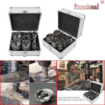 цена на HSS Drill Bit Set High Speed Steel Carbide Tip Hole Saw Tooth Cutter Metal Drilling Hand Woodworking Cutter Drill Bit