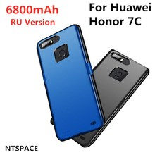 NTSPACE 6800mAh Slim Backup Power Bank Pack Charging Cover Case Battery Charger Cases For Huawei Honor 7C RU Version Power Case