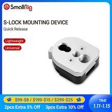 """SmallRig S Lock Quick Release Montage Gerät Männlichen und Famale Platte Mit 1/4 """"und 3/8"""" Gewinde Löcher für Monitor Bildschirm 1855"""