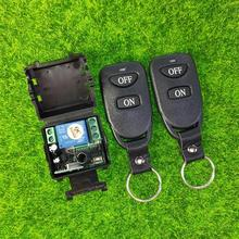 Миниатюрный беспроводной пульт дистанционного управления 12 В постоянного тока, 1 канал, RF, 315 МГц, 433 МГц, универсальный выключатель включения/выключения питания для освещения/лампы