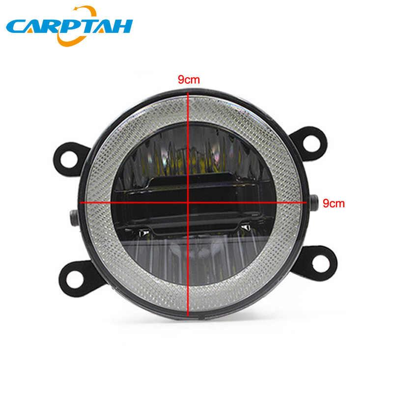 CARPTAH LED luces de circulación diurna DRL 3 en 1 Funciones luz antiniebla para coche proyector bombilla para Mitsubishi Montero Sport