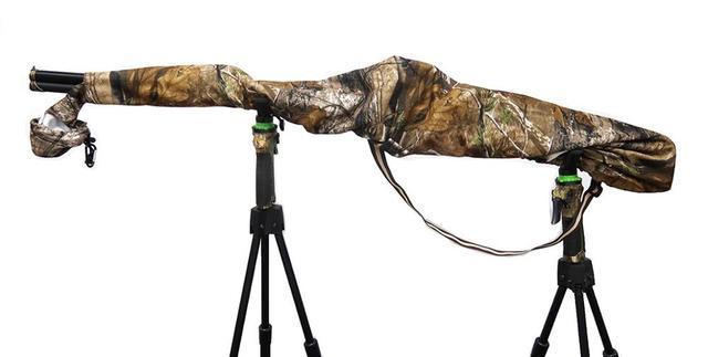 Gun Slicker Scoped Rifle Case, Water Resistance Camo Shotgun Case, Rifle Sleeve Cover Fast Gun Case for Shooting Hunting 3