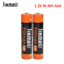 2PCS/Lot 1.2V ni-mh 3A AAA rechargeable battery aaa 3a 950mAh ni mh nimh 100% Original big capacity batteries 4pcs lot new masterfire ni mh aaa 2 4v 800mah ni mh battery rechargeable cordless phone batteries pack with plugs