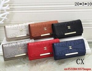 Luxury Designer Brand Chanel- Wallet women Purses Black Bifold Wallet Zipper Coin Purse C262
