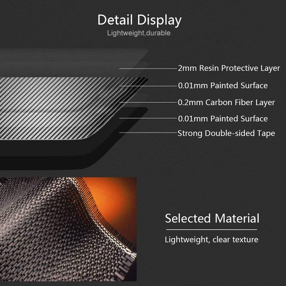 1 Pair 3D Car Interior Dashboard Wrap Kit Carbon Fiber Vinyl Wrap Stickers for Tesla Model 3 accessories styling in Automotive Interior Stickers from Automobiles Motorcycles