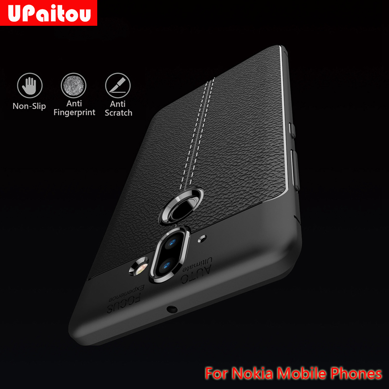 UPaitou Litchi Soft TPU <font><b>Case</b></font> for <font><b>Nokia</b></font> 1 2 3 5 9 7 Plus 8 Sirocco 6 <font><b>2018</b></font> Cover Luxury Classical Silicon Fitted <font><b>Case</b></font> for <font><b>Nokia</b></font> 9 image