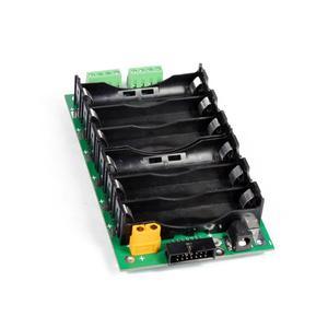 Image 2 - 24v 6s電源壁18650バッテリーパック6s bmsリチウムイオンリチウム18650バッテリーホルダーbms pcb diy電動自転車太陽電池6sバッテリーボックス