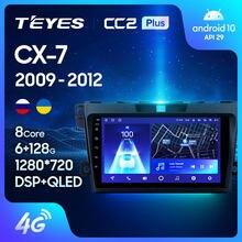 TEYES CC2L и CC2 Plus Штатная магнитола For Мазда СХ-7 ER рестайлинг For Mazda CX7 CX-7 CX 7 ER 2009 - 2012 Android до 8-ЯДЕР до 6 + 128ГБ 2DIN автомагнитола 2 DIN DVD GPS мультимедиа ав...