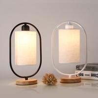 1Pc Nodic Einfache Schlafzimmer Nachttisch Lampe Hause Holz Basis LED Lesen Nacht Licht EU Stecker (Nicht enthalten birne))