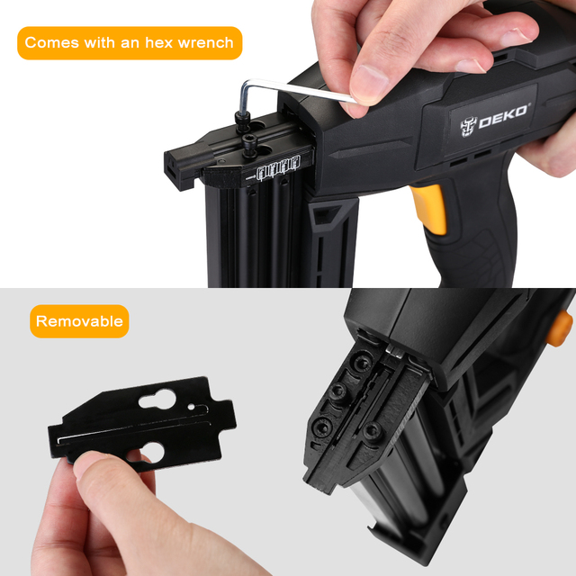 DEKO DKET02  Electric Tacker and Stapler Furniture Staple Gun for Frame with Staples & Woodworking Tool 4