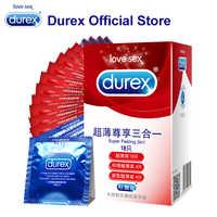 Durex préservatifs Ultra mince préservatif intime marchandises bite pénis manchon produits sexuels intimité Latex naturel caoutchouc pour hommes femme adulte