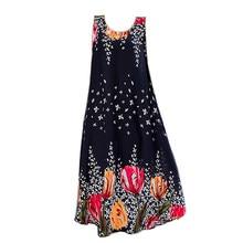 Summer Dress women Vintage O Neck print cotton Dresses Casual Simple Fashion Korean Women Dress Elegant Vestidos New Clothes